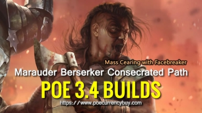 POE 3.4 Marauder Berserker Consecrated Path Build - Mass Cearing with Facebreaker