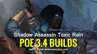 POE 3.4 Shadow Assassin Toxic Rain Build - Poison and Chaos Damage