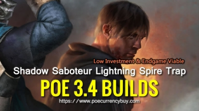 POE 3.4 Shadow Saboteur Lightning Spire Trap Build - Low Investment & Endgame Viable