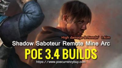 POE 3.4 Shadow Saboteur Remote Mine Arc Build - High damage & Needn't Aim