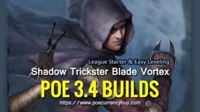 POE 3.4 Shadow Trickster Blade Vortex Build - League Starter & Easy Leveling