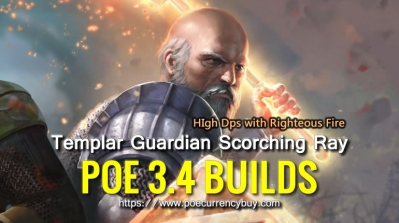 POE 3.4 Templar Guardian Scorching Ray Build - High Dps with Righteous Fire