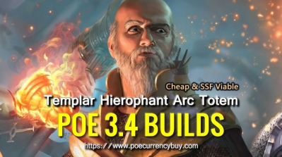 POE 3.4 Templar Hierophant Arc Totem Build - Cheap & SSF Viable