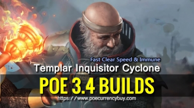 POE 3.4 Templar Inquisitor Cyclone Build - Fast Clear Speed & Immune