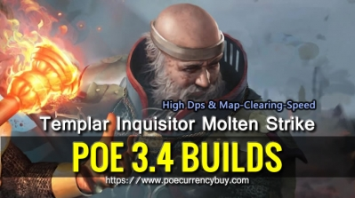 POE 3.4 Templar Inquisitor Molten Strike Build - High Dps & Map-Clearing-Speed