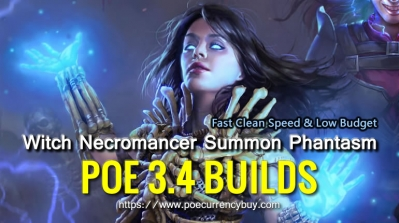 POE 3.4 Witch Necromancer Summon Phantasm Build - Fast Clearning Speed & Low Budget
