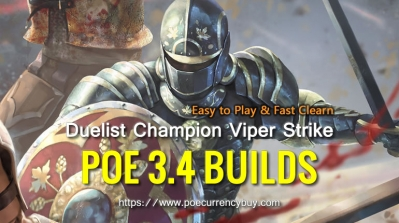 POE 3.4 Duelist Champion Viper Strike Build - Easy to Play & Fast Clearn