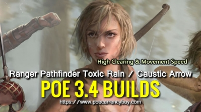 PoE 3.4 Ranger Pathfinder Toxic Rain / Caustic Arrow Build - High Clearing & Movement Speed