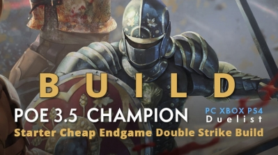 POE 3.5 Duelist Champion Starter Double Strike Build (PC,XBOX,PS4)- High Clear Speed and Damage, Cheap, Endgame