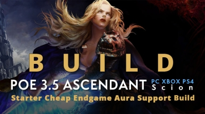 POE 3.5 Scion Ascendant Starter Aura Support Build (PC,XBOX,PS4)- Cheap, Tankly, Endgame
