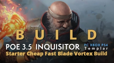 POE 3.5 Templar Inquisitor Starter Blade Vortex Build