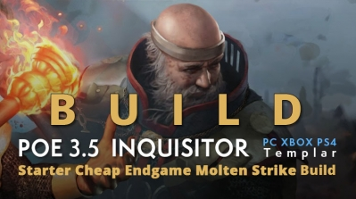POE 3.5 Templar Inquisitor League Starter Molten Strike Build (PC,XBOX,PS4)- High Clear Speed, Cheap, Endgame