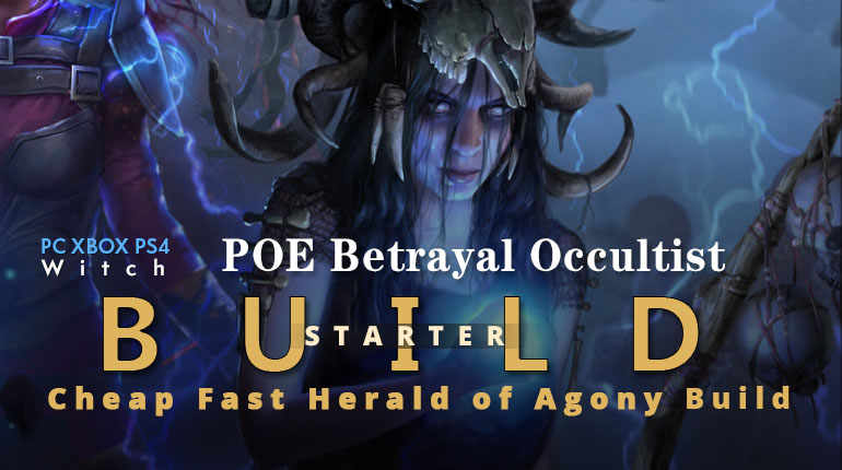 POE Betrayal Occultist Herald of Agony Starter Build - Good Clear Speed, Easy, Cheap