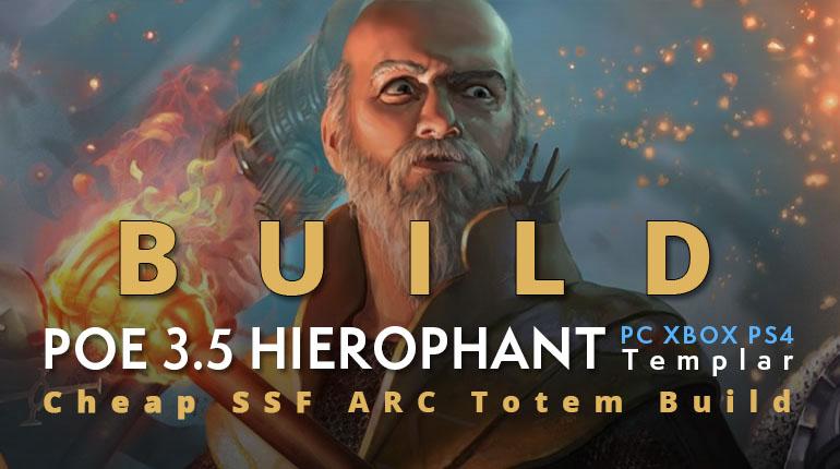 POE 3.5 Templar Hierophant Arc Totems Build (PC,XBOX,PS4)- Cheap, SSF-viable