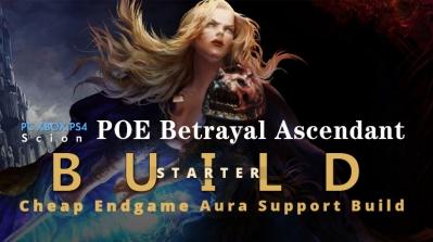 POE Betrayal Ascendant Aura Support Starter Build