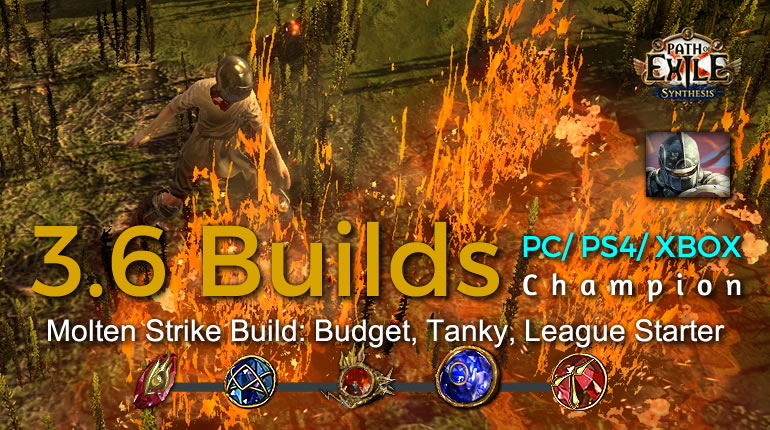 POE Synthesis Duelist Molten Strike Champion Build - Budget, Tanky, League Starter