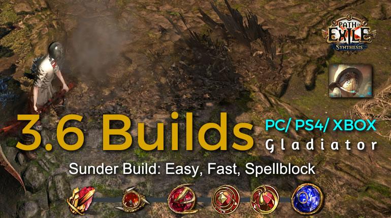 POE Synthesis Duelist Sunder Gladiator Build - Easy, Fast, Spellblock