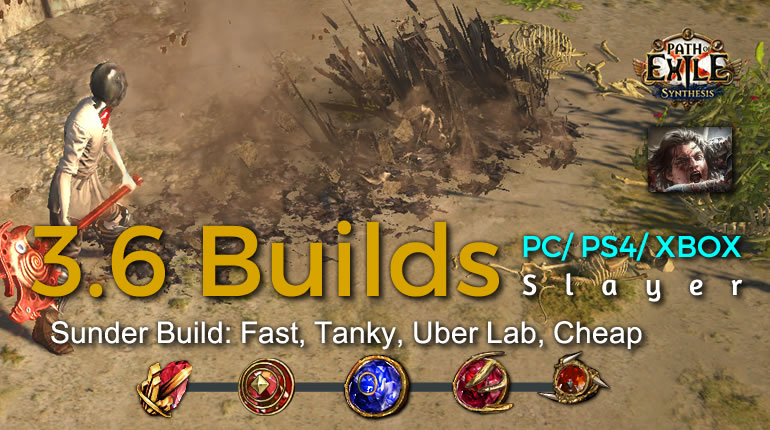 POE Synthesis Duelist Sunder Slayer Build - Fast, Tanky, Uber Lab, Cheap