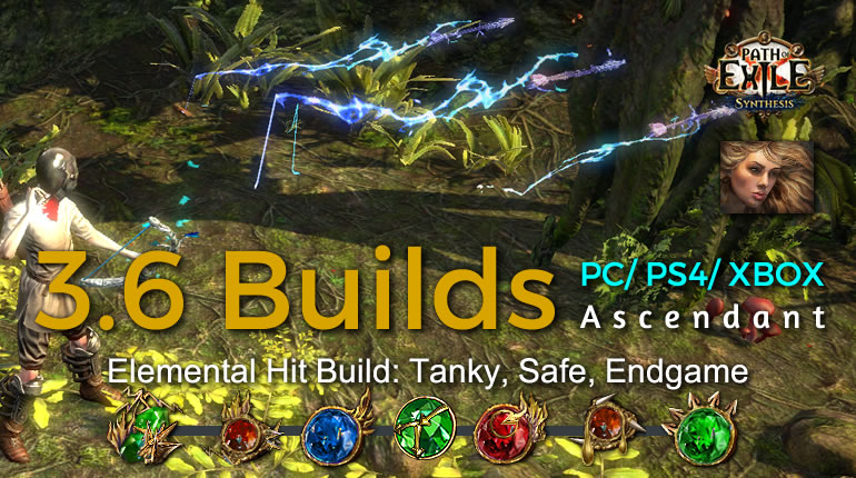POE Synthesis Scion Elemental Hit Ascendant Build - Tanky, Safe, Endgame