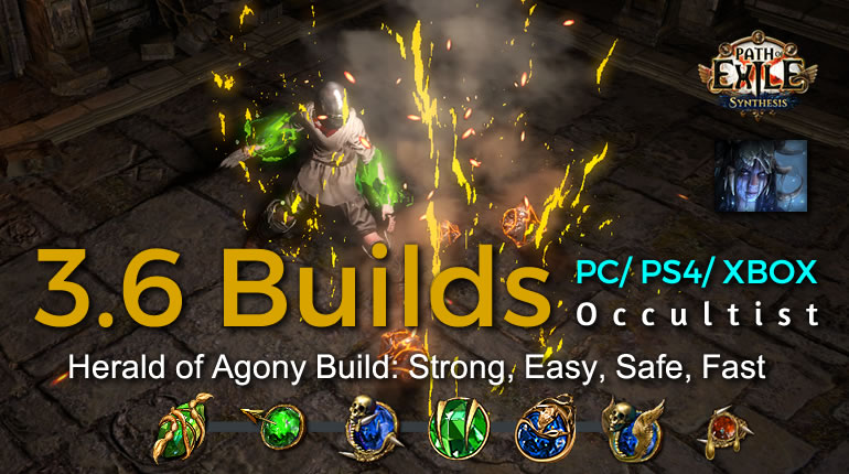 POE Synthesis Witch Herald of Agony Occultist Build - Strong, Easy, Safe, Fast