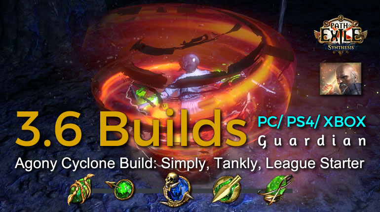 POE Synthesis Tempar Agony Cyclone Guardian Build - Simply, Tankly, League Starter