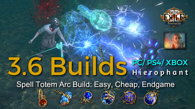 POE Synthesis Tempar Spell Totem Arc Hierophant Build - Easy, Cheap