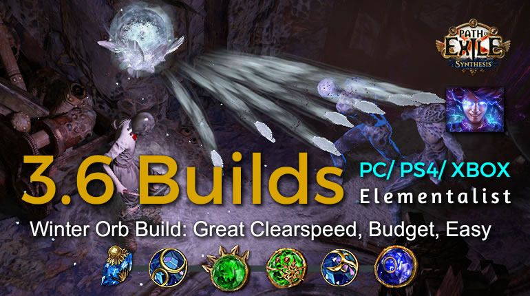 POE Synthesis Witch Winter Orb Elementalist Build - Great Clearspeed, Budget, Easy