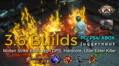 POE Synthesis Marauder Molten Strike Juggernaut Build