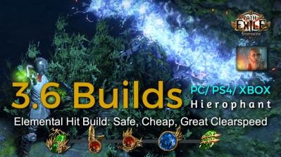 POE Synthesis Tempar Elemental Hit Hierophant Build
