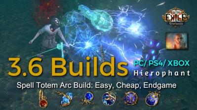POE Synthesis Tempar Spell Totem Arc Hierophant Build