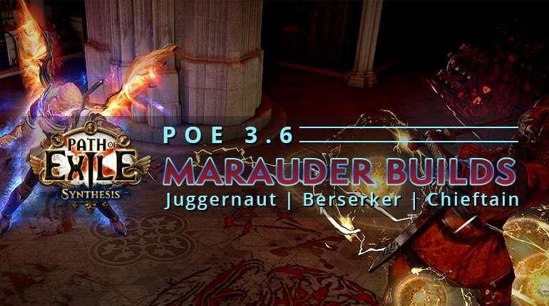 [3.6] Popular PoE Synthesis Marauder Builds - Juggernaut | Berserker | Chieftain