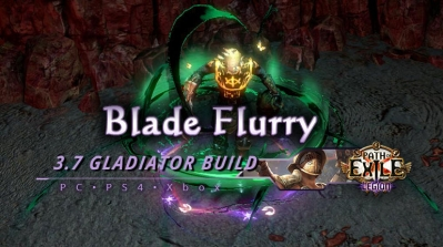 PoE 3.7 Blade Flurry Duelist Gladiator Endgame Build