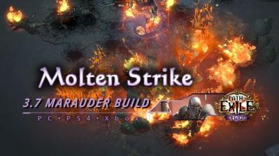 PoE 3.7 Molten Strike Marauder Juggernaut Starter Build