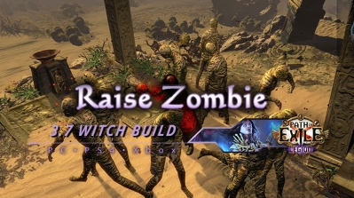 PoE 3.7 Raise Zombie Witch Necromancer Endgame Build