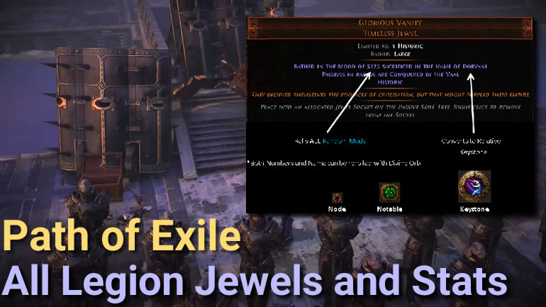PoE 3 7 Legion All Jewels and Stats - poecurrencybuy com