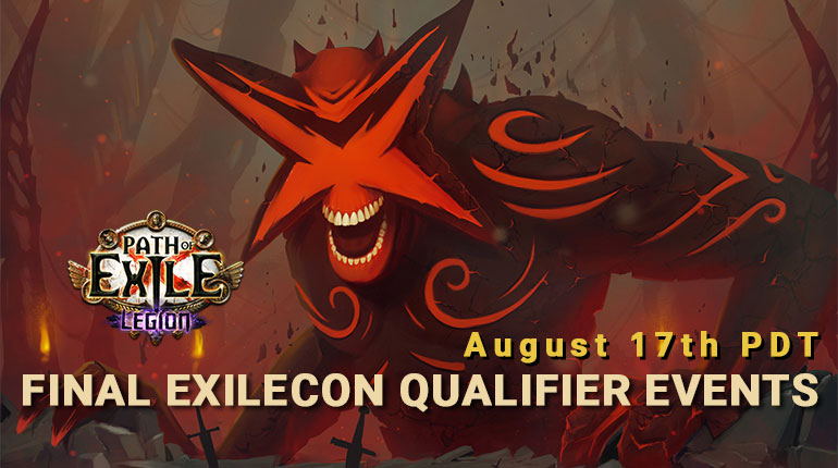 PoE Final ExileCon Qualifier Events