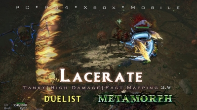 PoE 3.9 Duelist Lacerate Gladiator Tanky Build (PC,PS4,Xbox,Mobile)
