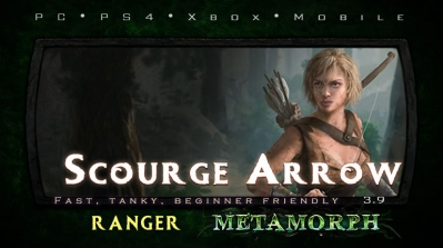 PoE 3.9 Ranger Scourge Arrow Pathfinder Starter Build (PC,PS4,Xbox,Mobile)