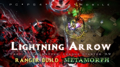 PoE 3.9 Ranger Lightning Arrow Deadeye Bow League Starter Build