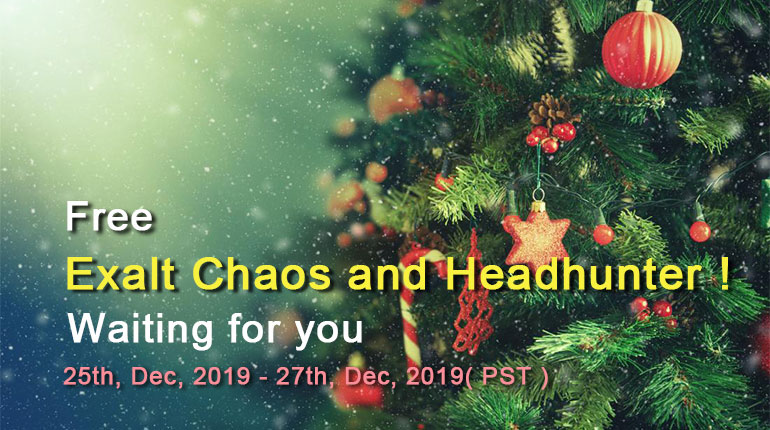 Free Exalt Chaos and Headhunter Waiting Fou You!