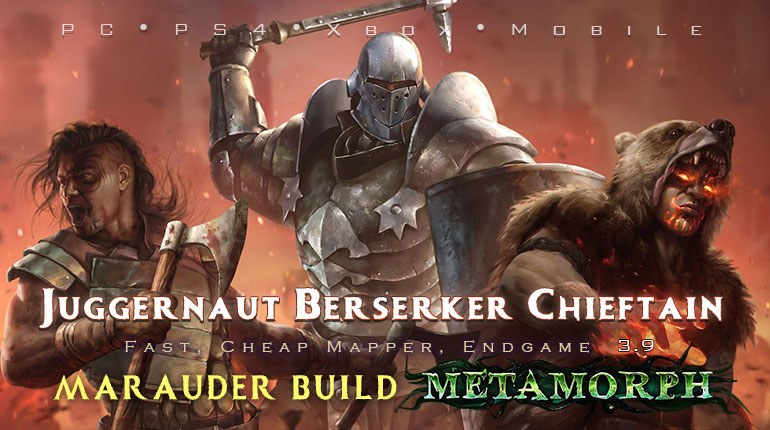 PoE 3.9 Marauder Starter Builds (PC,PS4,Xbox,Mobile)