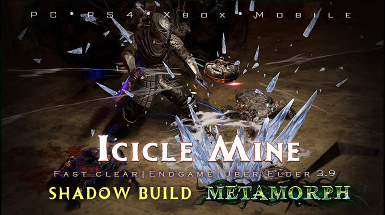 PoE 3.9 Shadow Icicle Mine Saboteur Fast Build (PC,PS4,Xbox,Mobile)