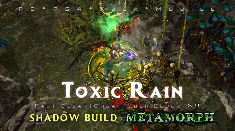 PoE 3.9 Shadow Toxic Rain Trickster Cheap Build (PC,PS4,Xbox,Mobile)