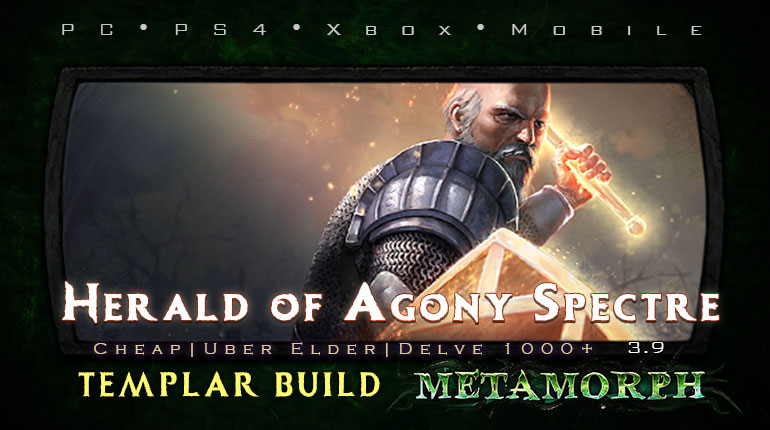 PoE 3.9 Templar Herald of Agony Spectre Guardian Cheap Build (PC,PS4,Xbox,Mobile)