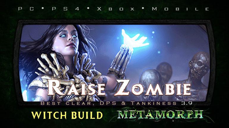 PoE 3.9 Witch Raise Zombie Necromancer Tanky Build (PC,PS4,Xbox,Mobile)