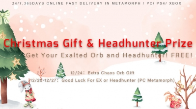 Christmas Gift and Exalted Orbs & Headhunter Prize