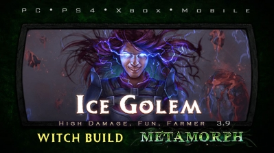 PoE 3.9 Witch Ice Golem Elementalist Farmer Build (PC,PS4,Xbox,Mobile)