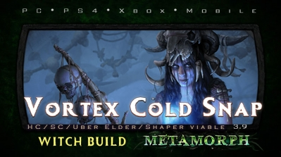 PoE 3.9 Witch Vortex Cold Snap Occultist Endgame Build (PC,PS4,Xbox,Mobile)