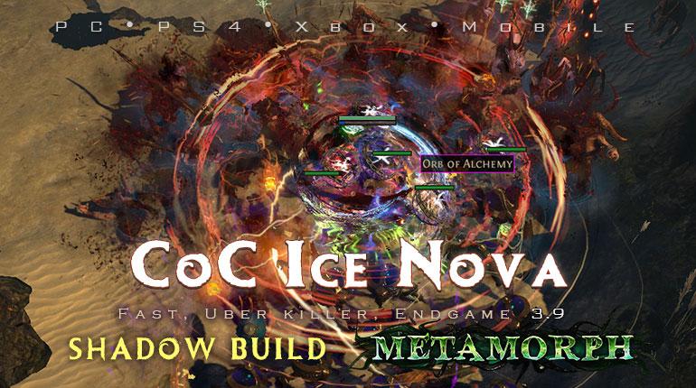 PoE 3.9 Shadow CoC Ice Nova Assassin Endgame Build (PC,PS4,Xbox,Mobile)