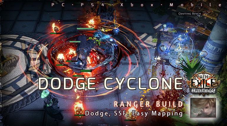 [3.10] PoE Delirium Ranger Dodge Cyclone Raider Easy Build (PC,PS4,Xbox,Mobile)